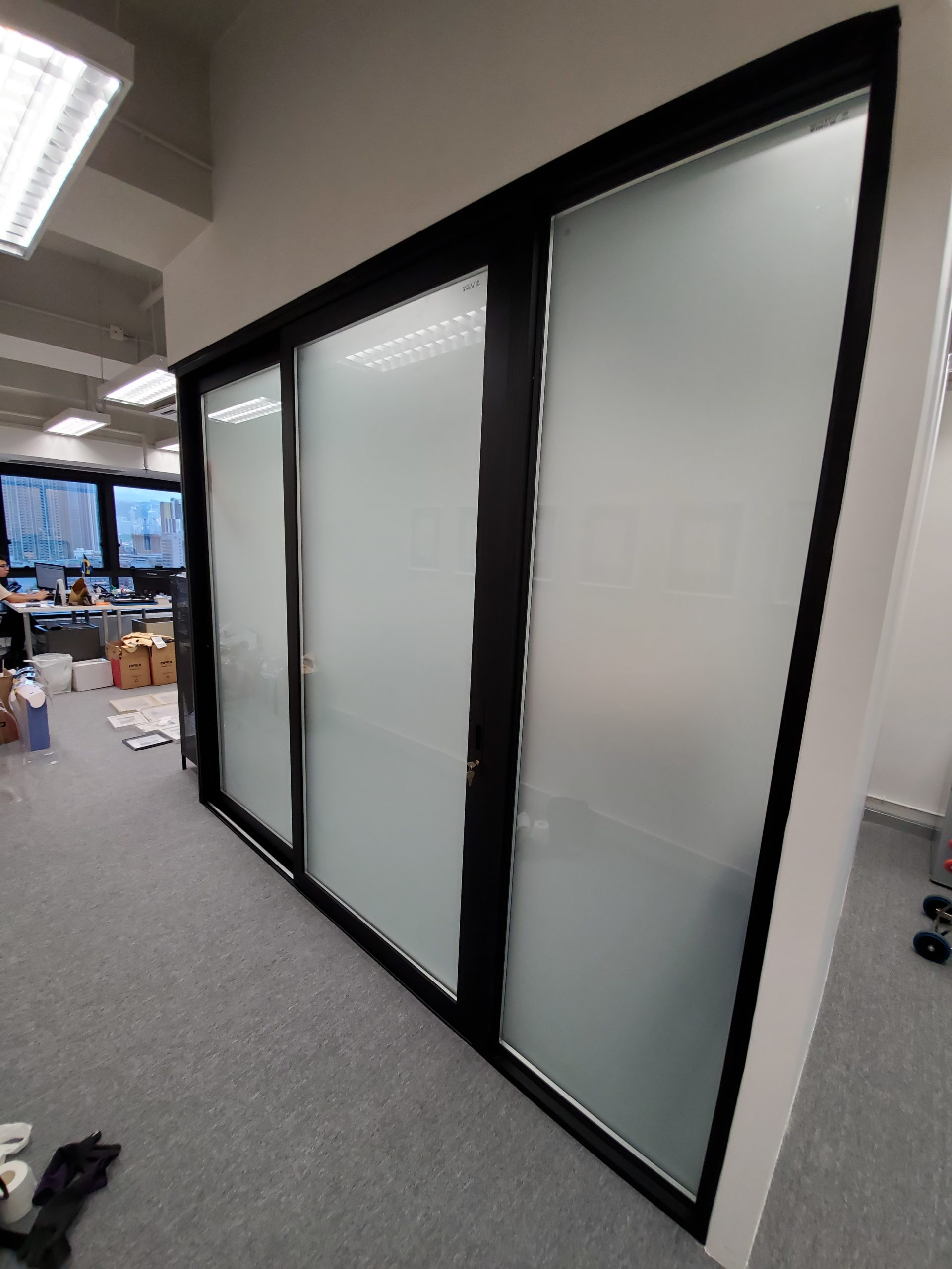 <p>Glass Office Wall System</p>